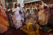 Breaking taboo: Vrindavan widows celebrate Diwali inside temple