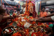 Communal tension erupts after dirty water thrown at temple on Navratri