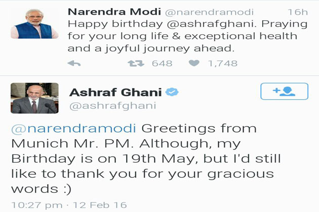 PM Modi makes a faux pas, wishes Afghan President three months before his birthday