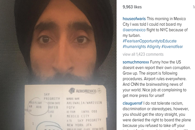 Sikh actor stopped from flying to US for wearing turban, shares experience on Instagram