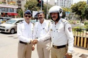 PHOTOS: Manoj Bajpayee's day as traffic constable on Mumbai roads