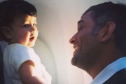Cuteness alert: Ziva with daddy Dhoni looks adorable