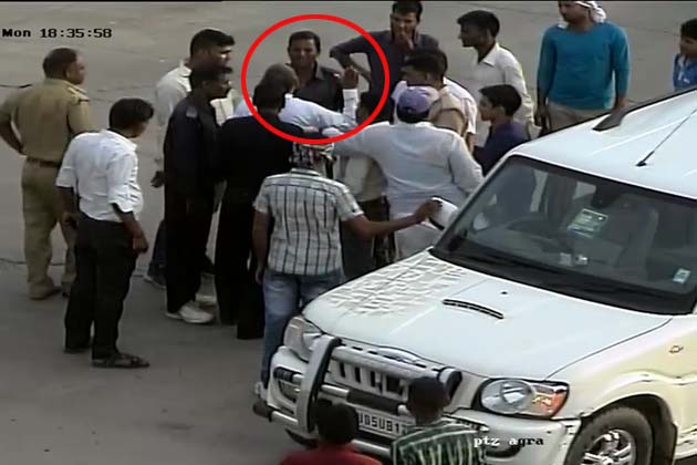 BJP's Bharatpur MP Bahadur Singh Koli caught on CCTV beating toll plaza guard