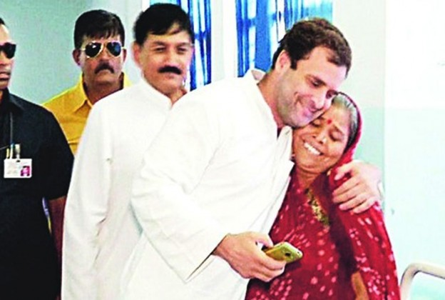 Revealed: Dalit victim's mother who hugged Rahul Gandhi was an impostor