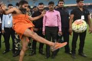 When yoga guru Ramdev Baba turned into a footballer