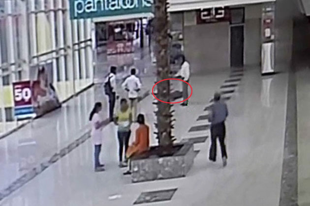 Watch: Irked over fight with girlfriend, man attempts suicide at mall