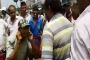 Watch: 'Corrupt' cop made to do sit-up by locals