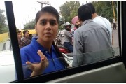 Viral video: SUV owner with 'SP links' threatens a scooty-rider for not giving way at red light