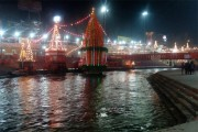 The enchanting beauty of Ardh Kumbh at night is undoubtedly magnificent