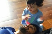MS Dhoni seen playing with daughter Ziva, photo goes viral
