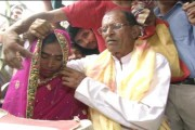 In pics: Septuagenarian man marries a 30-year-old woman