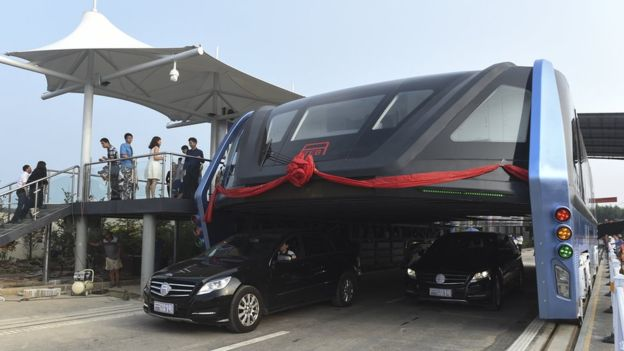 One TEB could replace 40 conventional buses, according to the firm. However, it is unclear when the vehicle will be widely used in Chinese cities. (Image: AP)