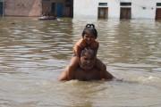 UP districts reel under flood as rains wreak havoc, hit normal life