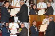 President confers Khel Ratna on PV Sindhu, Sakshi Malik, Dipa Karmakar and...