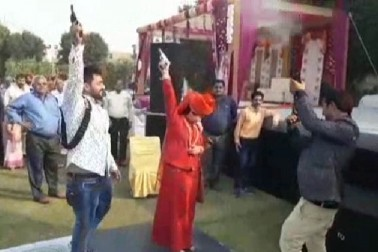 Video: One dead, many injured in celebratory firing by godwoman, her securitymen